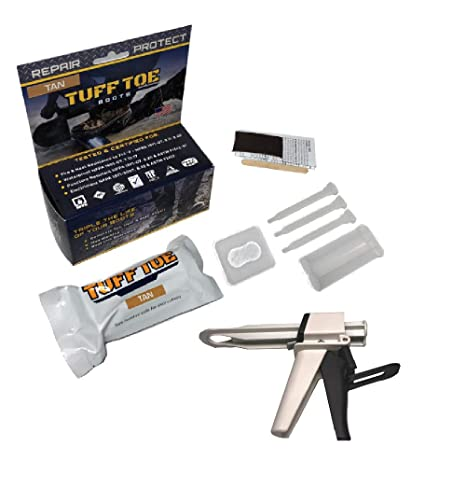 0c0438c571226 Tuff Toe Boot Repair Kit Combo APPLICATOR & Boot Bundle Combo Upgrade  Leather Boot Seam Heel Shoe Adhesive to Resole, Restore Your Steel Toe Work  ...
