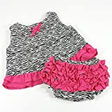 Zebra and Hot Pink Swing Back Top and Ruffle Bloomer Set (9-12 Months)
