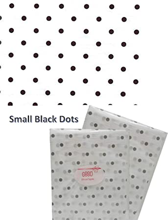Design Printed Tissue Paper For Gift Wrapping 24 Decorative Sheets 20 X 30 Black Dots On White