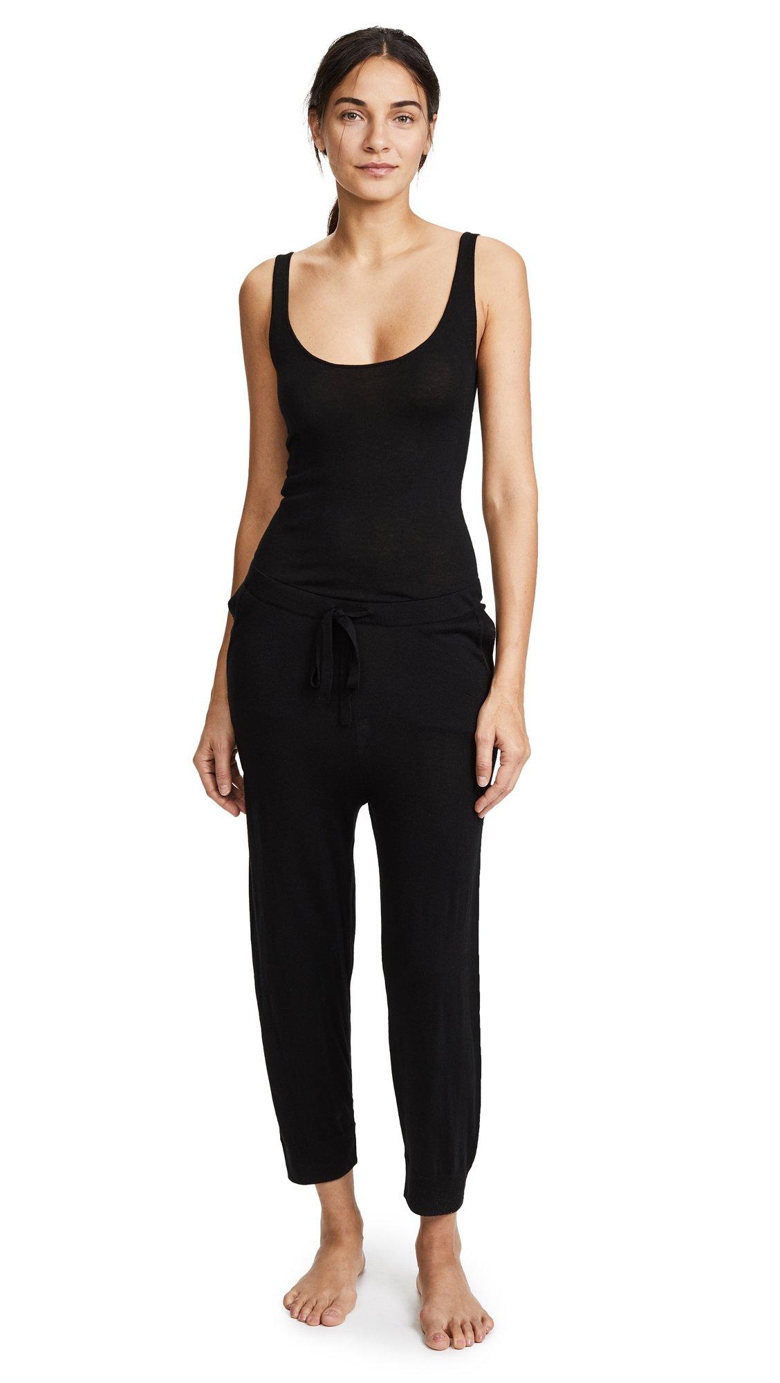 Skin Women's Monet Sleep Jumpsuit, Black, 1