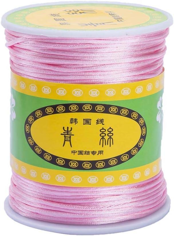 Corde Tress/ée Polyvalente 75m de Longueur 1mm de Diam/ètre Rose Promise Babe DIY Accessoires de Dentition Nylon Rope Solid Braid