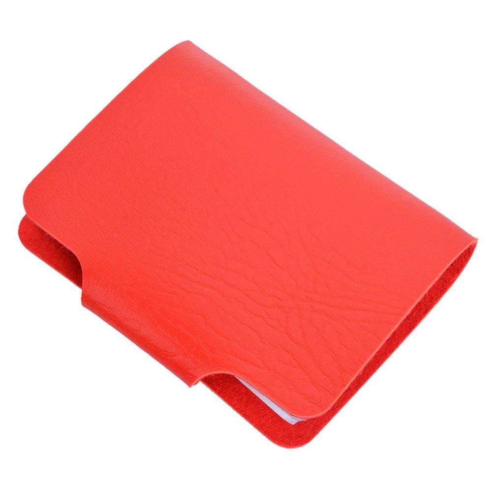 Sfit Porte Cartes de Crédit 12 Emplacements pour Cartes Porte-monnaie Multi-cartes en PU Cuir10.8x8.4cm DwwexLfj