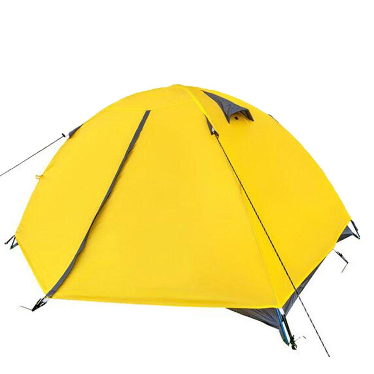 TZQ Outdoor Freizeit Doppel- Vier Jahreszeiten Zelte,Gelb