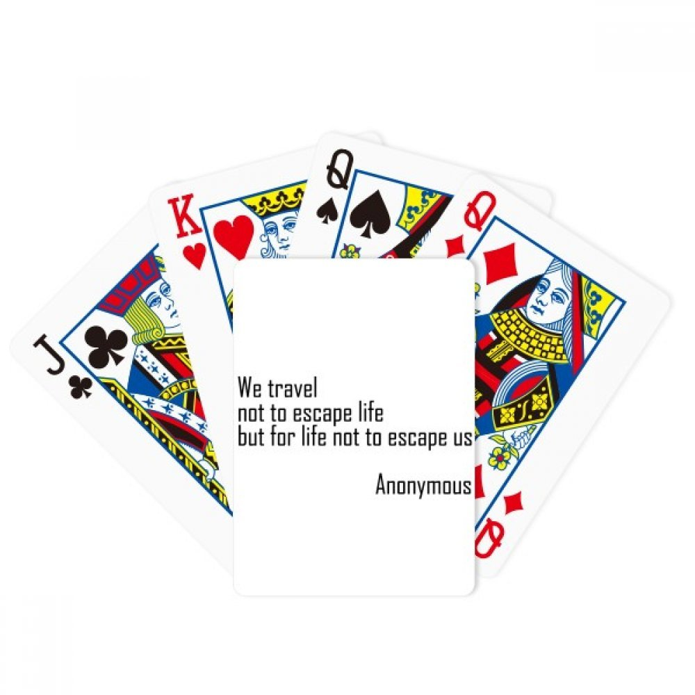 beatChong We Travel Not Escape Life Poker Playing Card Tabletop Board Game Gift by beatChong