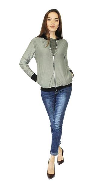 Comfiestyle - Chaqueta - Bomber Jacket - para mujer verde caqui 36