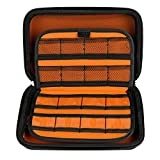 SIMPZIA 16 Slot Game Holder Hard Carrying Case for Nintendo New 3DS XL , New 3DS Full Body Protective Cover Shell