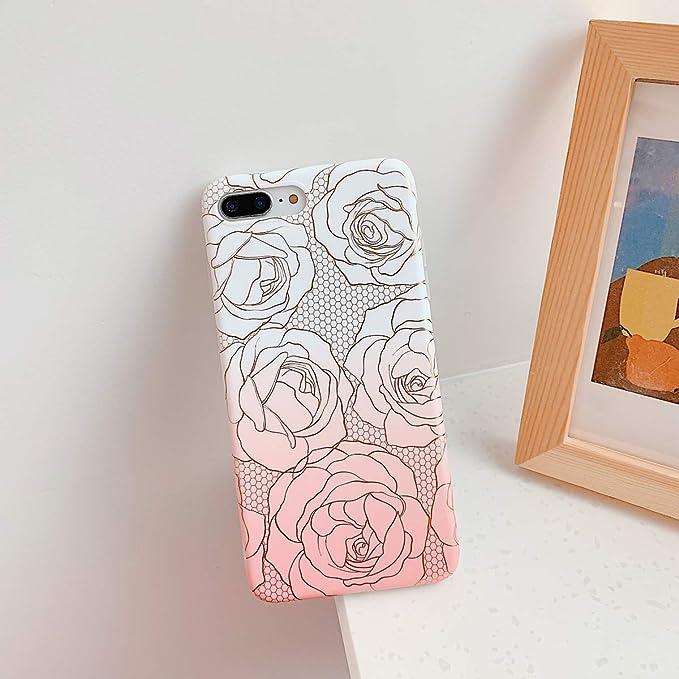 Oihxse Compatible para iPhone 7 Plus/iPhone 8 Plus Funda de Mármol ...