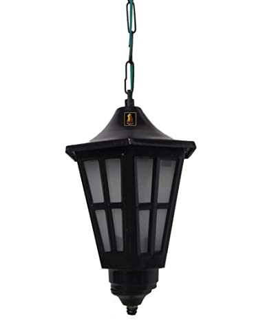 low priced 3e23b 26e8e BrightLyts Hurricane Metal Outdoor Lighting/Exterior Hanging Pendant Light  Lamp for Home Decor (Medium, Black)