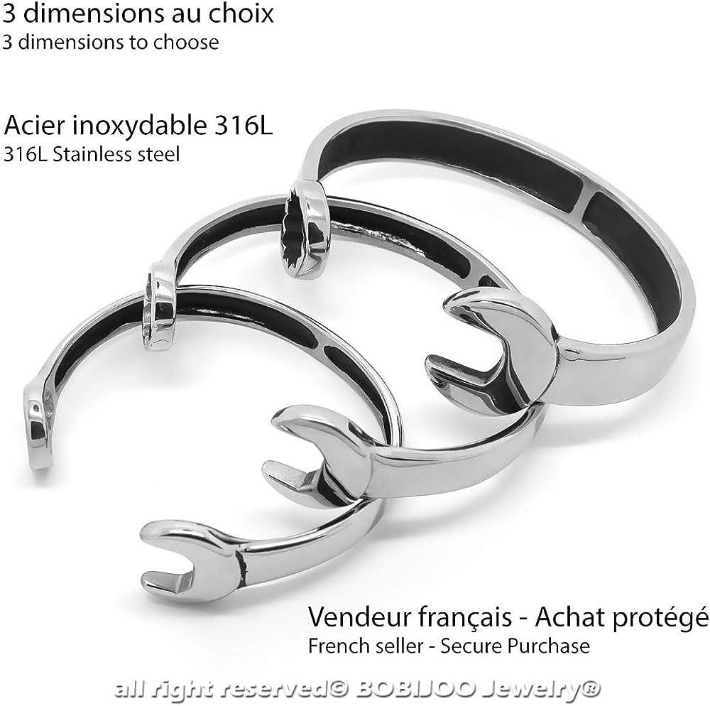 BOBIJOO Jewelry Bracelet Homme Femme Acier INOX 316L Cl/é Plate Outil M/écanicien Artisan au Choix