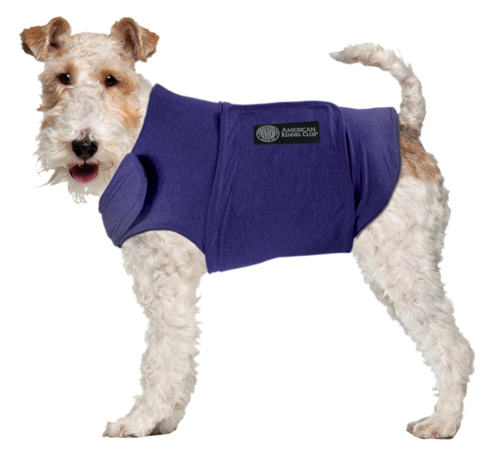 American Kennel Club Anti Anxiety and Stress Relief Calming Coat for Dogs Blue