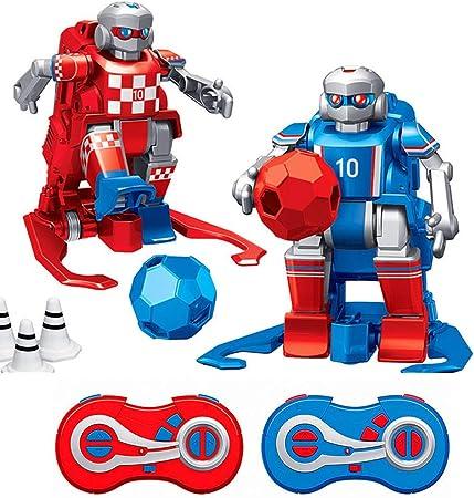2.4 GHz RC Soccer Robot Toy, Juego De Jugador De Fútbol Robot De Control Remoto Interactivo para Niños, Juego De Control Remoto Inalámbrico Juguetes para Niños: Amazon.es: Hogar