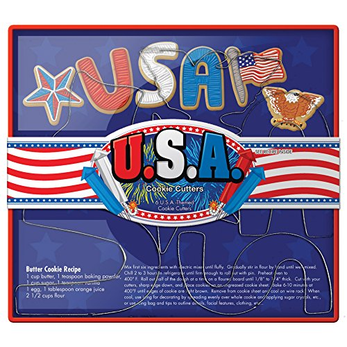Fox Run 36032 USA Cookie Cutter Set, Tin-Plated Steel, - Fox Run Usa