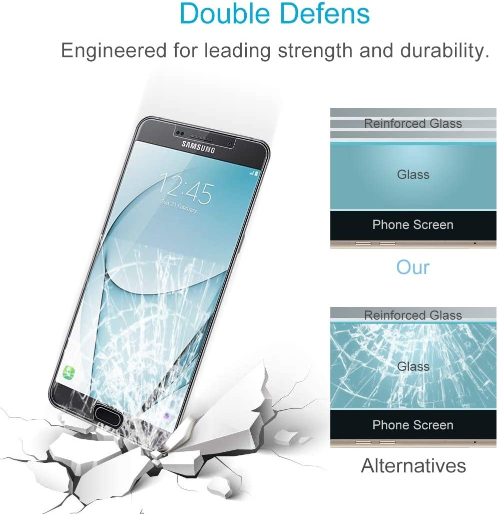 Clear 100 PCS 0.26mm 9H 2.5D Tempered Glass Film for Galaxy A9 Pro YINZHI Screen Protector Film 2016
