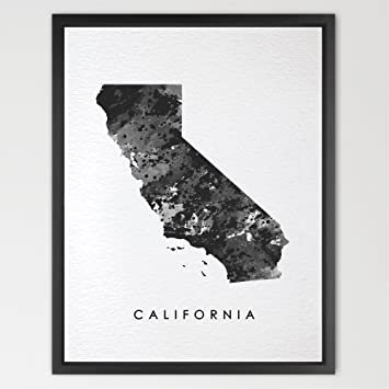 Amazon Com Dignovel Studios 8x10 California Map Usa States Map