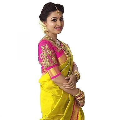 4a52f04165 Vaansi Creation Cotton Silk Saree With Blouse Piece (Sneha-Ind ...