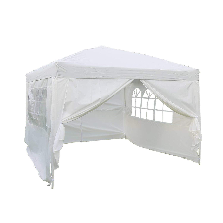 Kinbor 10'x10' Pop-up Canopy Wedding Party Tent, Heavy Duty Outdoor Gazebo Tent