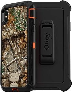 OtterBox DEFENDER SERIES SCREENLESS EDITION Case for iPhone Xs Max - Retail Packaging - RT BLAZE EDGE (BLAZE ORANGE/BLACK/RT EDGE GRAPHIC)