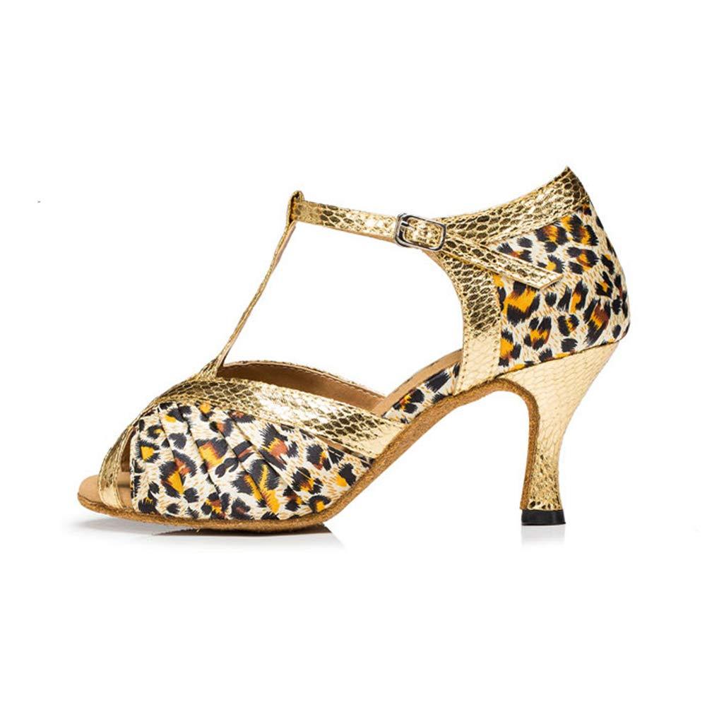 WHL.LL Frauen Flash-Gold Lateinische Tanzschuhe Tanzschuhe Tanzschuhe Fischmaul T-Typ Hoher Absatz Tanzschuhe Gemütlich Weicher Boden Tanzschuhe 8d1ee5