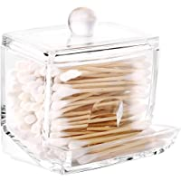 Acrylic Cotton Pad Holder Dispenser Clear Makeup Organizer Cotton Swab Holder Container Cosmetic Storage