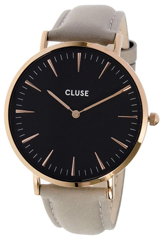 [クルース] CLUSE 腕時計 ラボエーム レザーベルト 38mm CL18018 ブラック/グレー レディース [並行輸入品] B01M6X7RAM