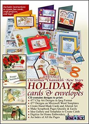 ScrapSMART - Vintage Christmas, Chanukah, and New Years Holiday Cards & Envelopes Software [Download]