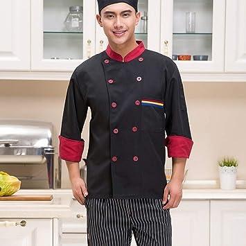 Chaqueta de Unisex Chef Camarero Traje Abrigo Mangas Largas ...