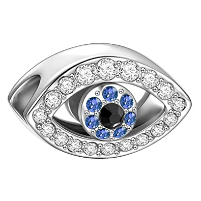 Soufeel Evil Eye Charms For Bangle And Necklace 925 Sterling Silver