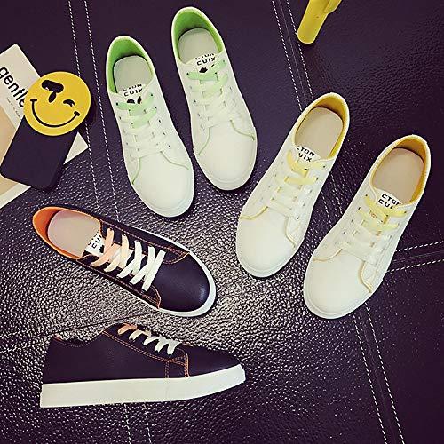 donna da piatto Primavera Tacco Sneakers Arancione Autunno ZHZNVX poliuretano Verde Yellow Comfort Scarpe PU Giallo EqBx5wfC