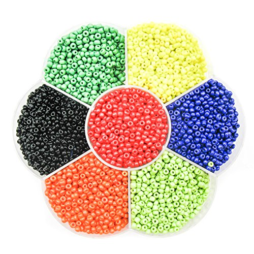 TOAOB Multi Color Glass Rainbow Pony Beads 2mm Kit Wholesale for Making Findings Pack of (Bulk Pony Beads)