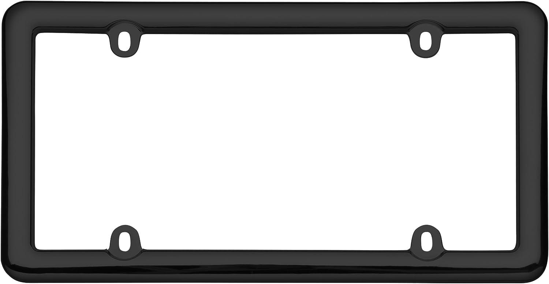 Cruiser Accessories 20643 Nouveau License Plate Frame Chrome Plastic