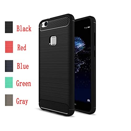 the latest 4a8b7 a1ef0 Huawei P10 Lite Case,MYLB Ultra Slim Lightweight Carbon Fiber Design  Flexible Soft TPU Case Highstrength Shockproof Protective Back Cover to  Protect ...