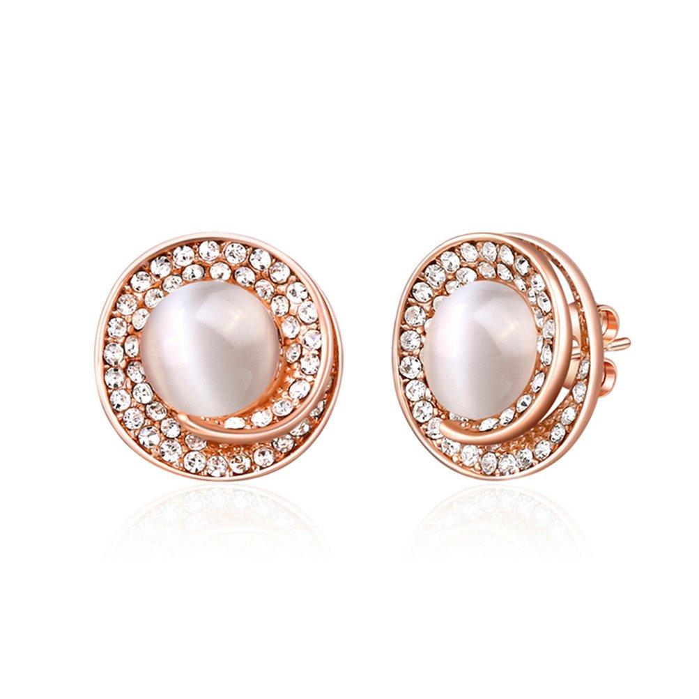 Simulated Rhinestone Swirl Statement Earrings Party Wear Costume Jewelry Gift For Women Girl