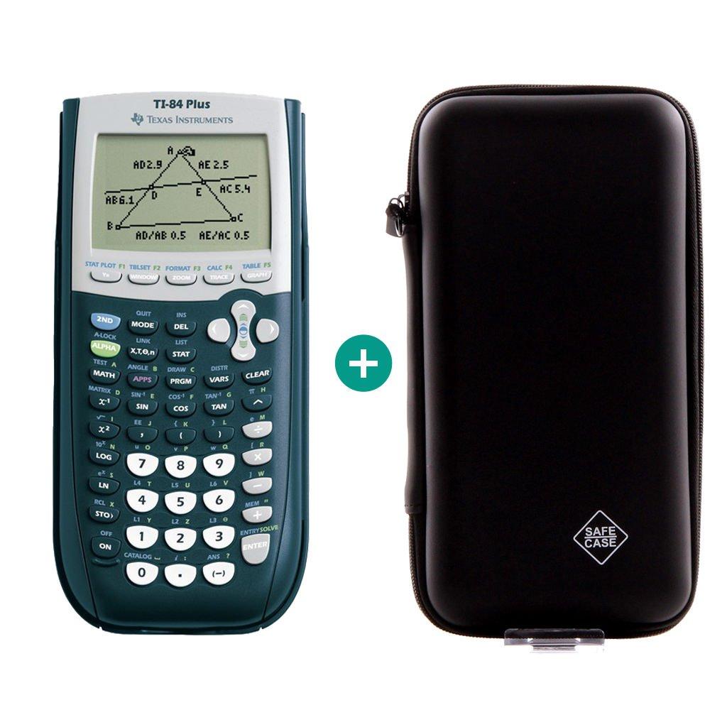 TI-84 Plus + Erweiterte Garantie + Schutztasche Texas Instruments / Calcuso