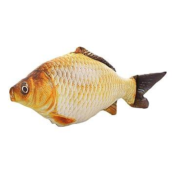 Pescado para gato toymytoy cojín con forma de pez para decoración de 40 cm: Amazon.es: Hogar