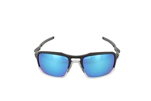 88389e1d4 Amazon.com: Oakley Mens Triggerman Sunglasses, Matte Black/Sapphire Iridium  Polarized, One Size: Clothing