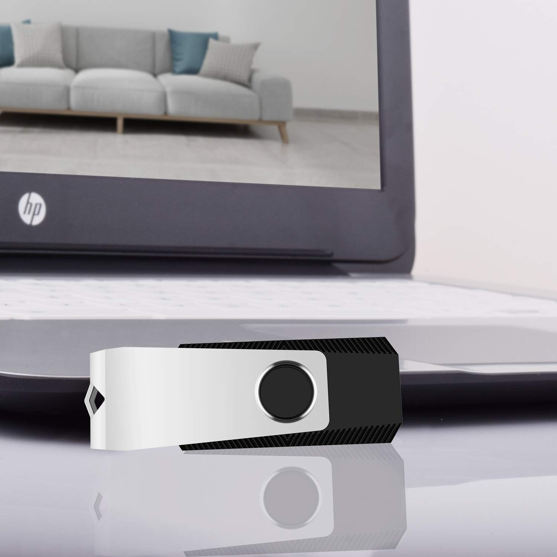 KEXIN Bulk USB 50 Pack 1GB USB Flash Drives Flash Drive Thumb Drive Bulk Flash Drives Swivel USB 2.0 (1G, 50PCS, Black) by KEXIN (Image #8)