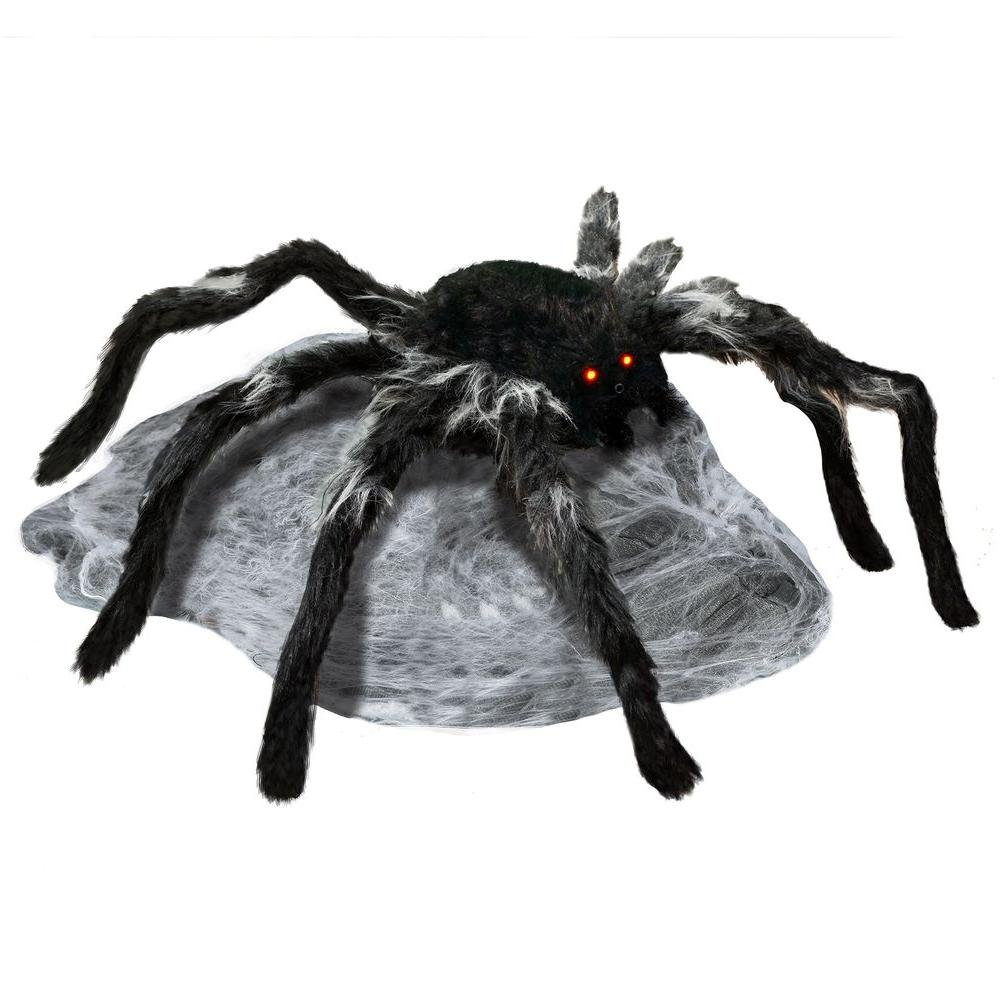 Home Accents Holiday 21.65 in. Animated Jumping Spider with Red LED Eyes