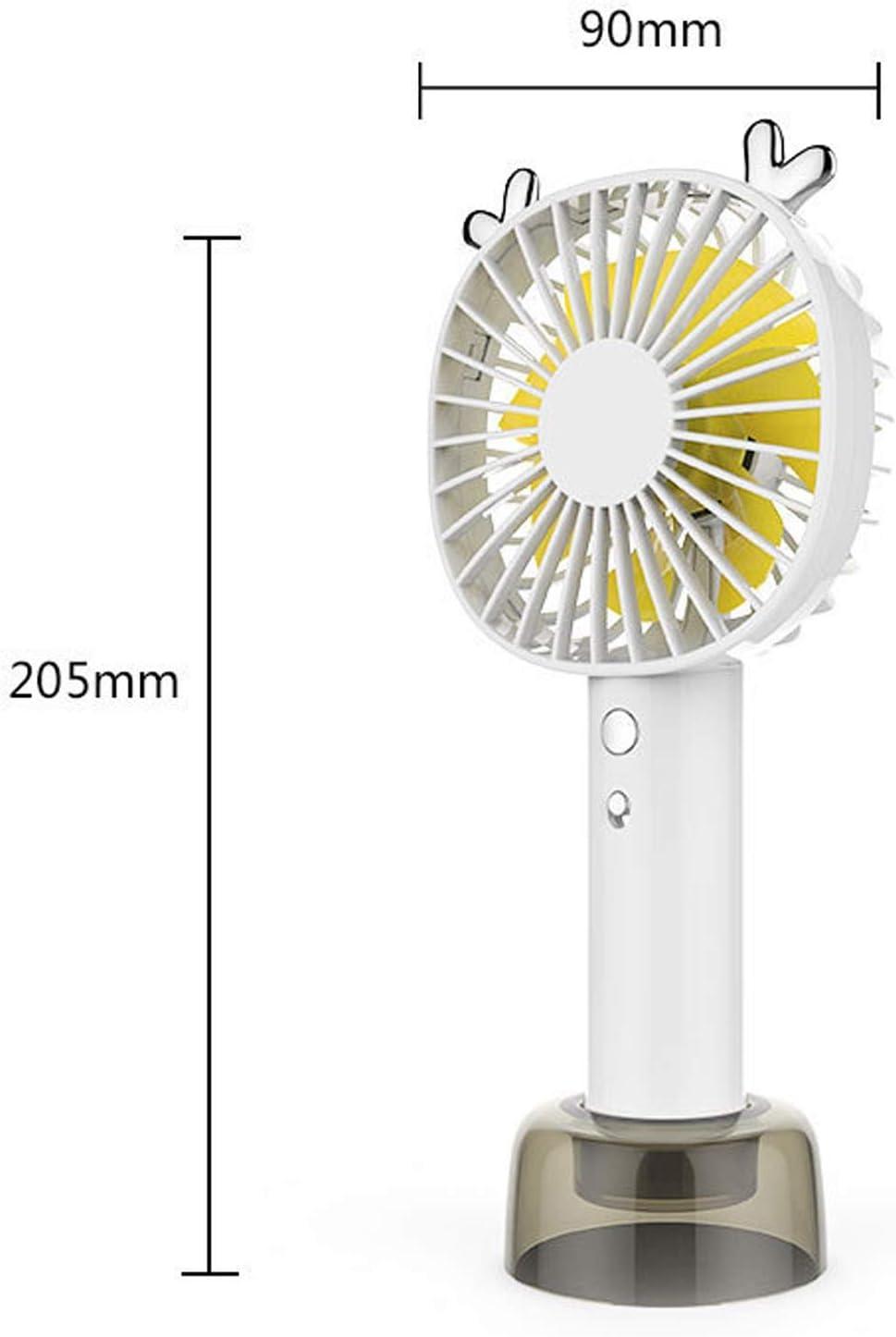 Color : Green Mini Portable Cooling Fan Handheld USB Fan Charging Portable Mute Desktop Fan Phone Bracket Table Fan Strong Wind Outdoor Bedroom