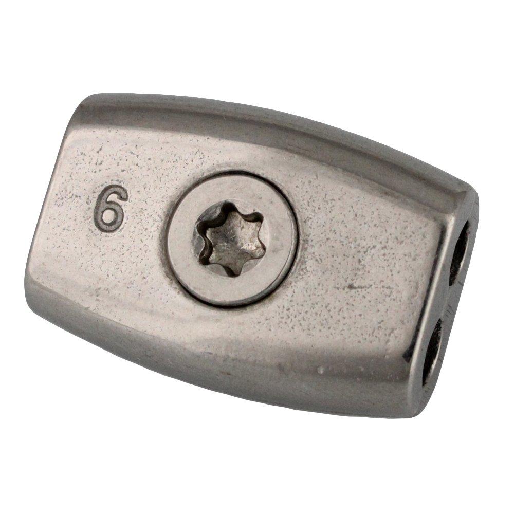 Lot de 2/ovo/ïde/ /Inox A4/ /AISI 316/bloqueur de corde /Serre-c/âble /étrier inox d = 6/mm TX30/