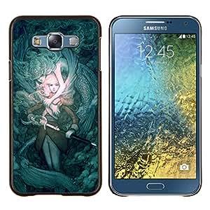 - teal mystery fairytale sword pc game/ Duro Snap en el tel??fono celular de la cubierta - Cao - For Samsung Galaxy E7 E7000