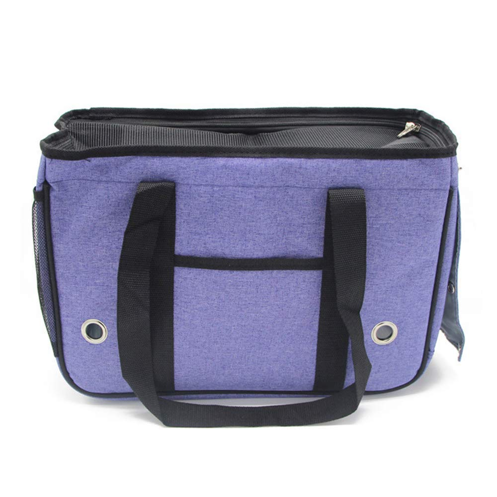 Purple Small Purple Small Cat Carrier Top Opening Cat Dog Puppy Travel Hiking Camping Pet Carrier Backpack Cat Carriers Medium Foldable,Purple,S