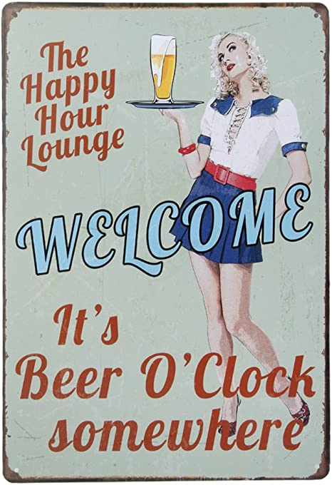 Metal Tin Sign marks of beer Bar Pub Home Vintage Retro Poster Cafe ART