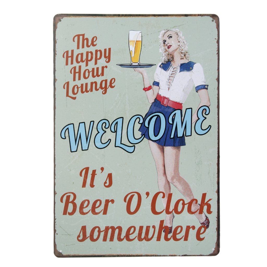 20x30cm Vintage Metal Tin Wall Sign Plaque Poster for Cafe Bar Pub Beer #7 Generic USB14019104