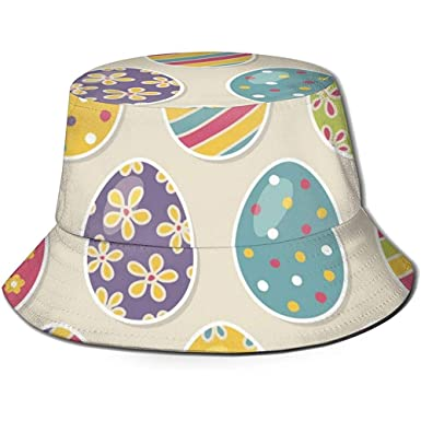 Sombrero de Cubo Dibujos Animados Patrón de cáscara de Huevo ...