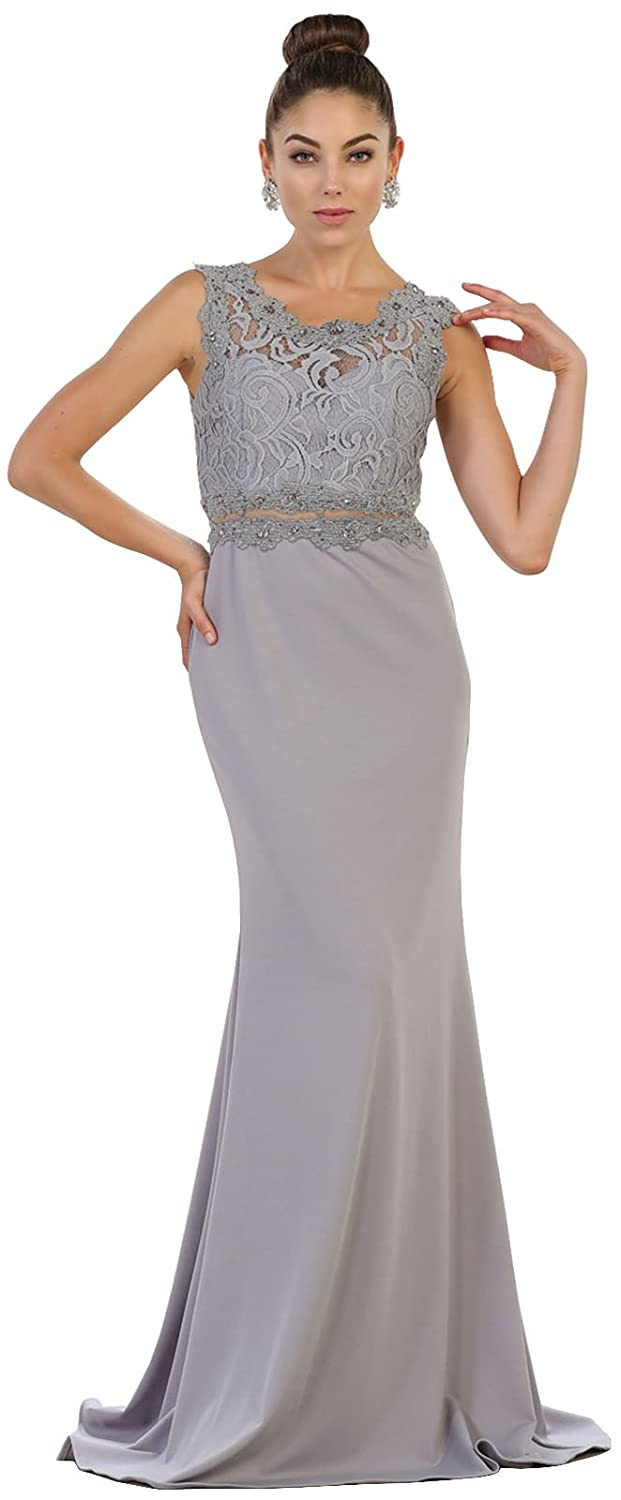 May Queen MQ1534 Sleeveless Prom Evening Gown at Amazon Womens Clothing store: