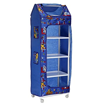 Archana Nhr Plastic Folding Kids Almirah ( 5 Shelf, Blue)