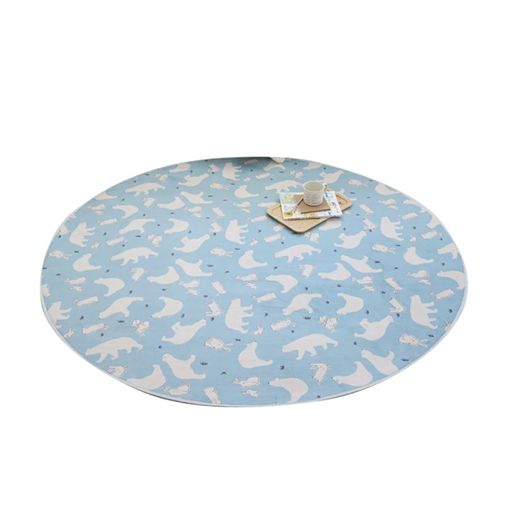 CHENGYANG Runder Zimmer Matten Nette Nette Nette kinderteppich Moderne Teppiche für Wohnzimmer Anti-Rutsch Teppich Kinderzimmer Teppiche Blau 1 100cm x 100cm B01L130AMM Teppiche 61ff04