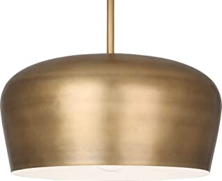 product image for Robert Abbey 610 Rico Espinet Bumper - One Light Pendant, Warm Brass Finish with Warm Brass/Painted White Shade