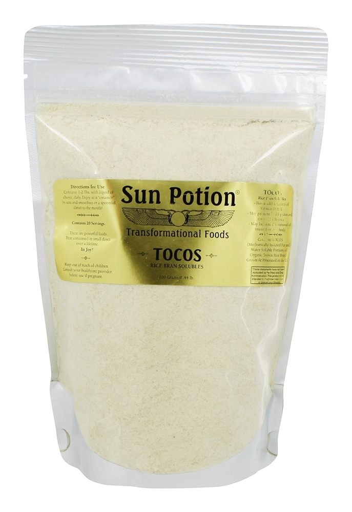 Sun Potion TOCOS (Rice Bran Solubles - 200 grams) - Organically Grown - Excellent Source of Vitamin E That Promotes Healthy Skin and Connective Tissues