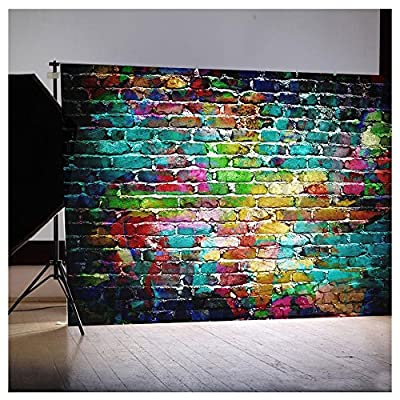 HOT SALE! Brick Wall Retro Wood floor Pictorial cloth Grade AAAAA Customized photography Backdrop Background Studio Prop Best For Photography,Video and Television